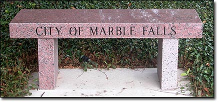 City of Marble Falls park bench
