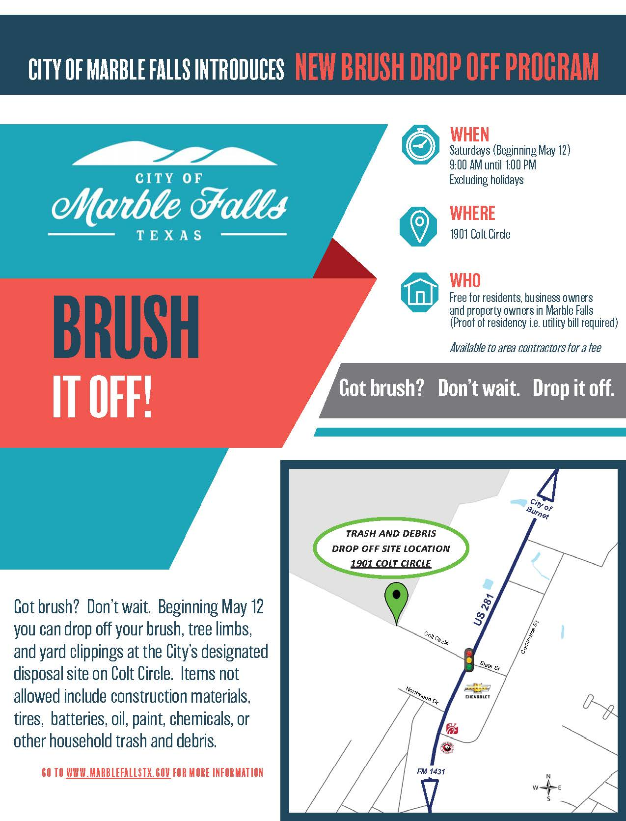 Brush it off Flyer - Before Start Date