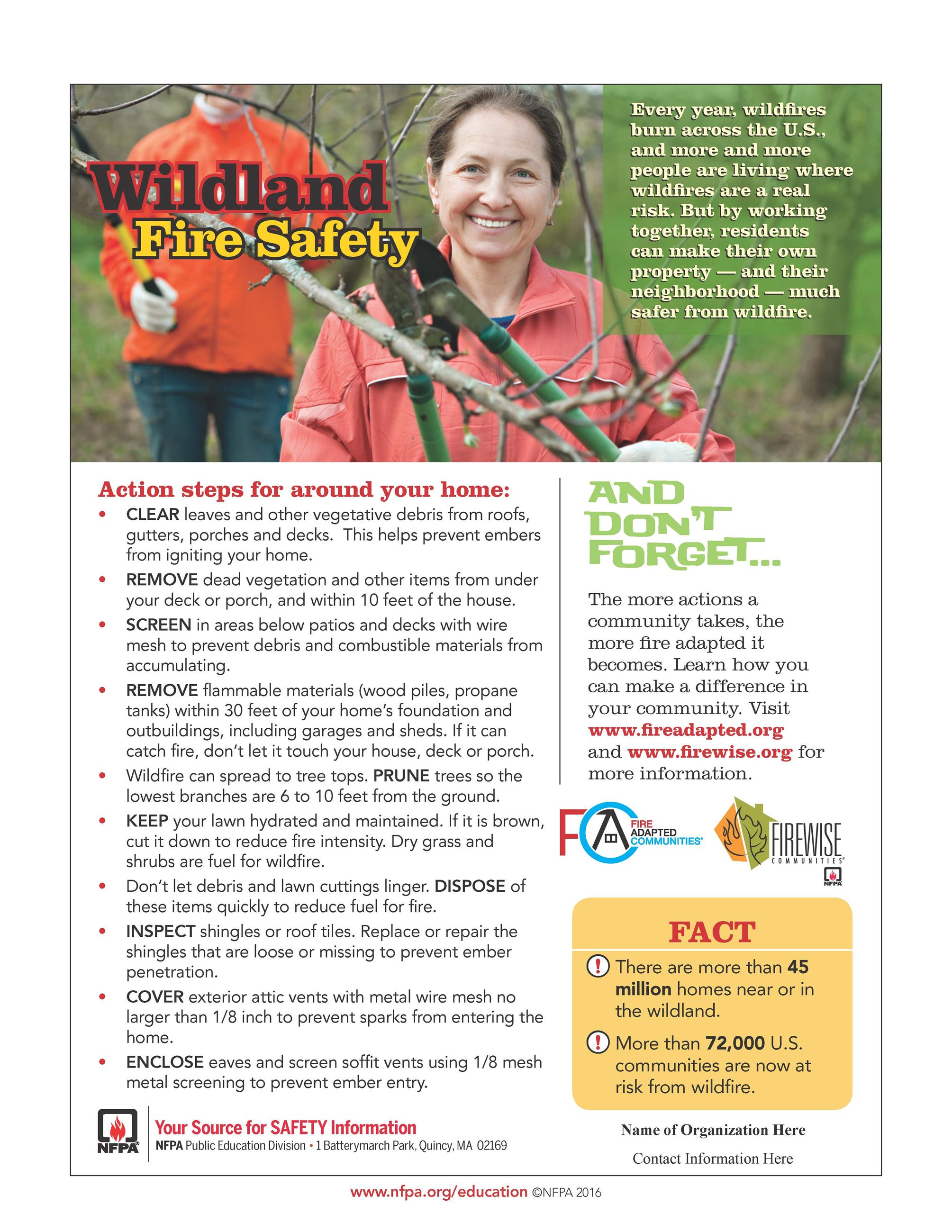 Wildland Fire Safety Tips