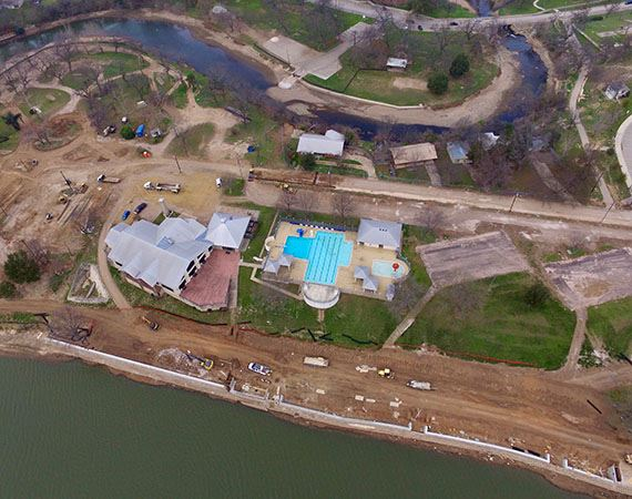 Lakeside Park Phase 1A Project Aerial Image