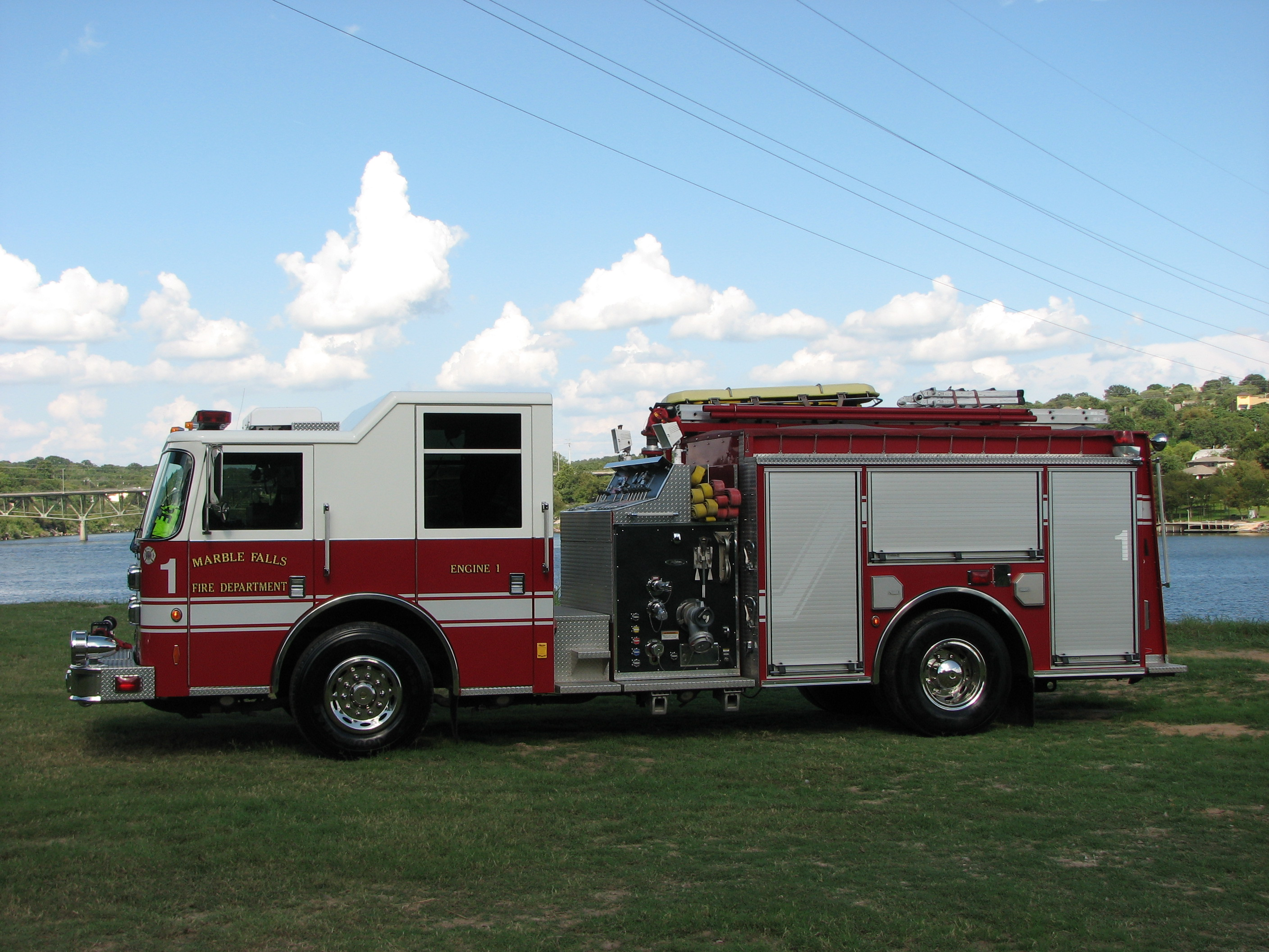 Engine 2, a reserve vehicle with a 1,000 gallon tank